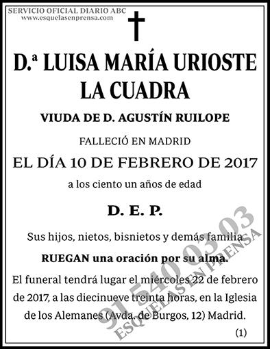 Luisa María Urioste la Cuadra